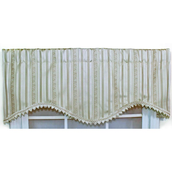 Dashing Pearl Braid Trim Cornice Valance