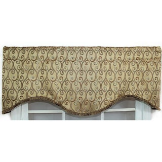 Twine Gold Cornice Valance With Braid Trim