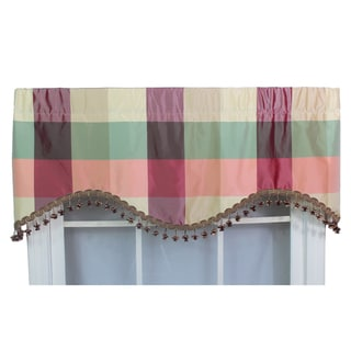 Silk Plaid With Tassel Cornice Valance