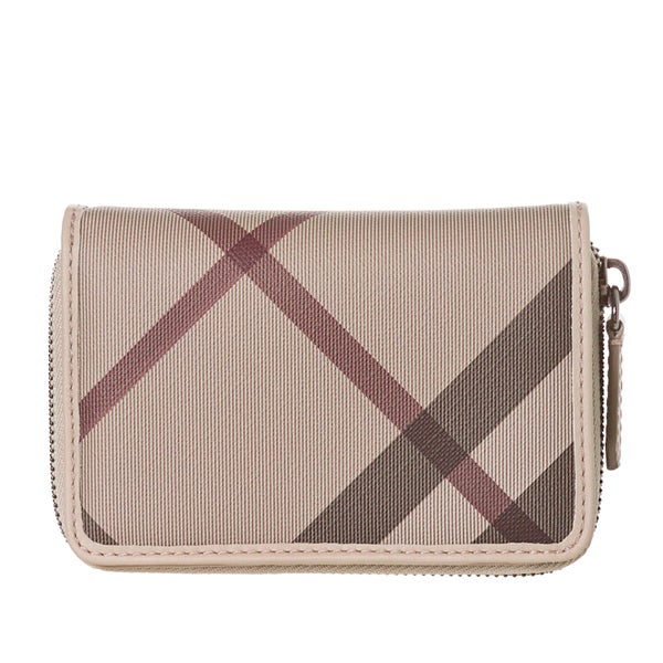 Burberry 3799530 Smoked Check Zip-around Wallet