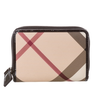 Burberry Nova Burleigh Check Medium Zip Wallet