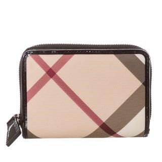 Burberry Nova Burleigh Check Medium Zip Wallet