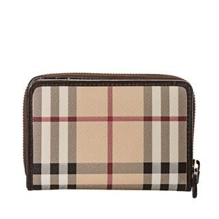 Burberry 3798989 Haymarket Check Ziparound Wallet