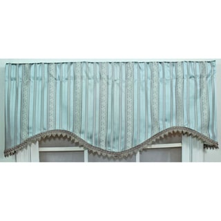 Dashing Mist Blue Cornice Valance