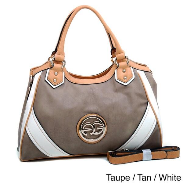 Anais Gvani Color-blocked Faux Leather Shoulder Bag
