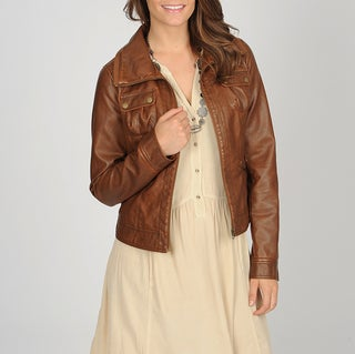 CoffeeShop Junior's Chestnut Faux Leather Jacket
