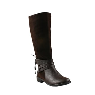 Refresh by Beston Women's 'Molly-01' Brown Riding Boots