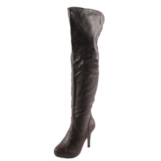 Refresh Women's 'Lana-04' Brown Over-the-knee Boots