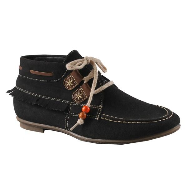 Machi by Beston Women's 'Jimmy-1' Black Moccasin Loafers