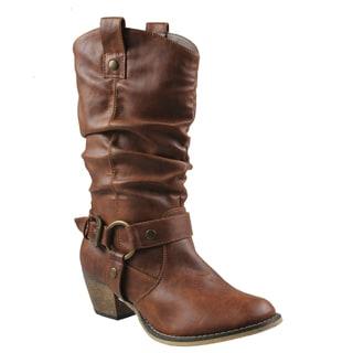 Refresh Women's 'Wild' Tan Cowboy Boots
