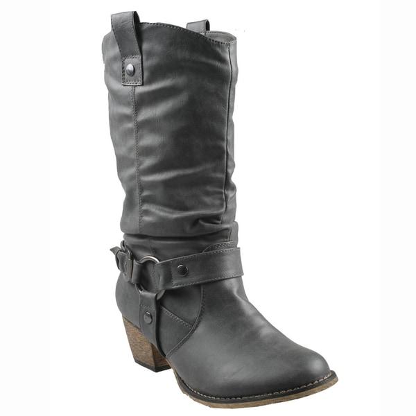 Refresh Women's 'Wild' Grey Cowboy Boots