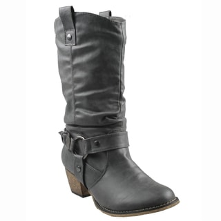 Refresh Women's 'Wild' Grey Cowboy Boots
