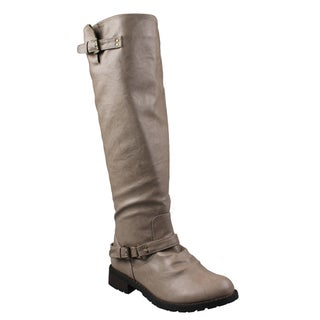 Refresh by Beston Women's 'Reba' Taupe Riding Boots