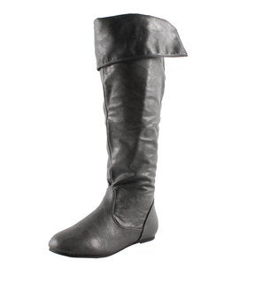 Refresh by Beston Women's 'Naomi-02' Grey Slouchy Boots