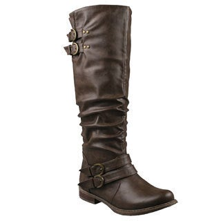 Refresh by Beston Women's 'Bailey-03' Taupe Riding Boots