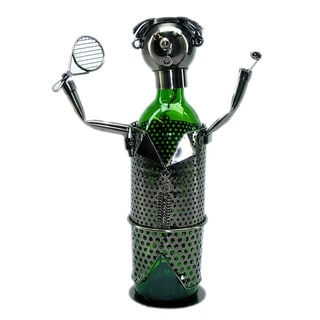 Wine Caddy Threestar Tennis Player Metal Wine Bottle Holder