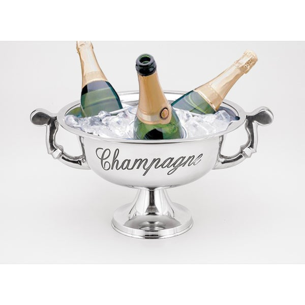 Horizon Silvertone Champagne Bucket with Handles