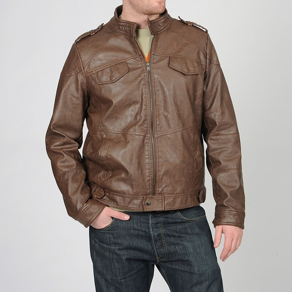 Grind by CoffeeShop Men's Brown PU Jacket