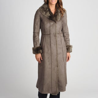 Nuage Women's Taupe Faux Shearing Coat