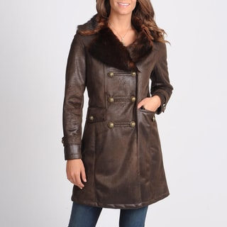 Nuage Women's 'Byrne' Brown Double Breasted Coat