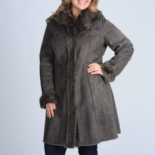 Plus size winter dress coat
