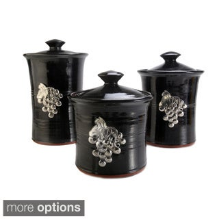 Artisans Domestic 3-piece Gourmet Canister Set with Vineyard Accents
