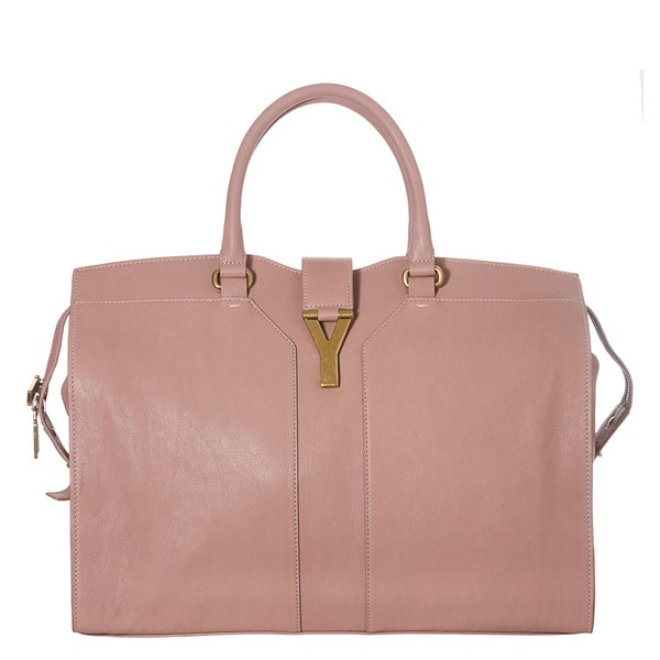 Yves Saint Laurent 'Cabas ChYc' Large Pale Pink Leather Tote Bag