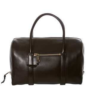 Chloe 'Madeleine' Black Leather Satchel Bag
