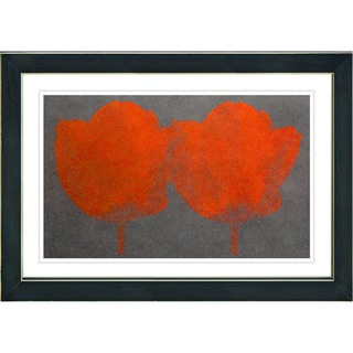 Studio Works Modern 'Twin Tulips - Red' Framed Giclee Print