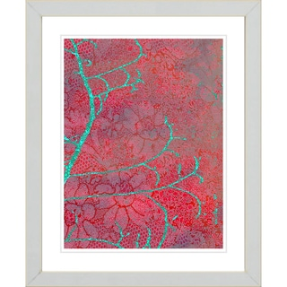 Studio Works Modern 'Flower Branches - Red' Framed Giclee Print