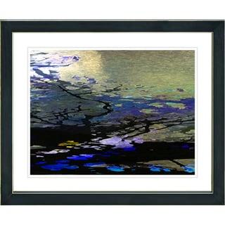 Studio Works Modern 'Reflections - Blue' Framed Giclee Print