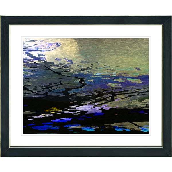 Studio Works Modern 'Reflections - Blue' Framed Giclee Print