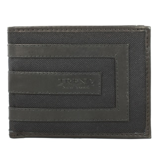 Trend Fashion Men's Black Leather Bi-fold Wallet