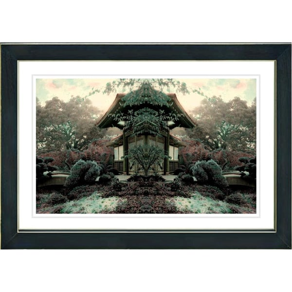 Studio Works Modern 'Tea Garden' Framed Print