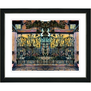Studio Works Modern 'Ornate Gate' Framed Print