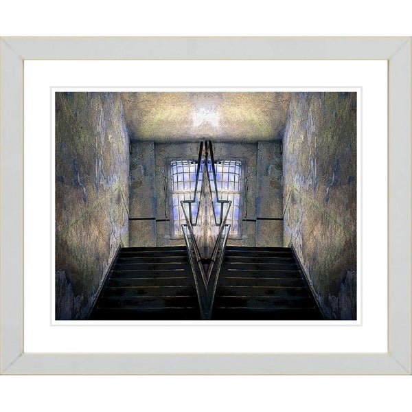 Studio Works Modern 'Castle Window' Framed Print