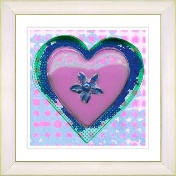 Studio Works Modern 'Pink Heart' Framed Print