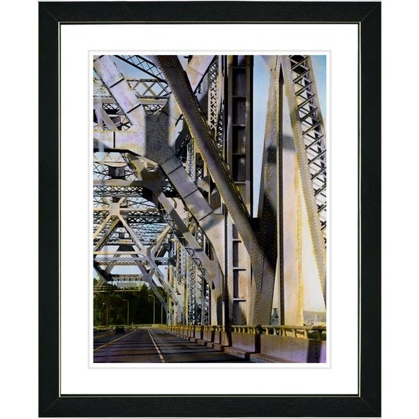 Studio Works Modern 'Bridge' Framed Art Print