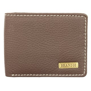 Brandio Fashion Men's Brown Leather Bi-fold Wallet