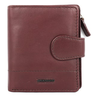 Brandio Women's Brown Leather Bi-fold Wallet