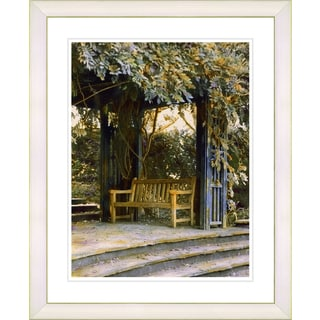 Studio Works Modern 'Garden Bench' Framed Art Print