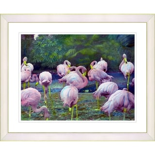 Studio Works Modern 'Flamingos' Framed Art Print