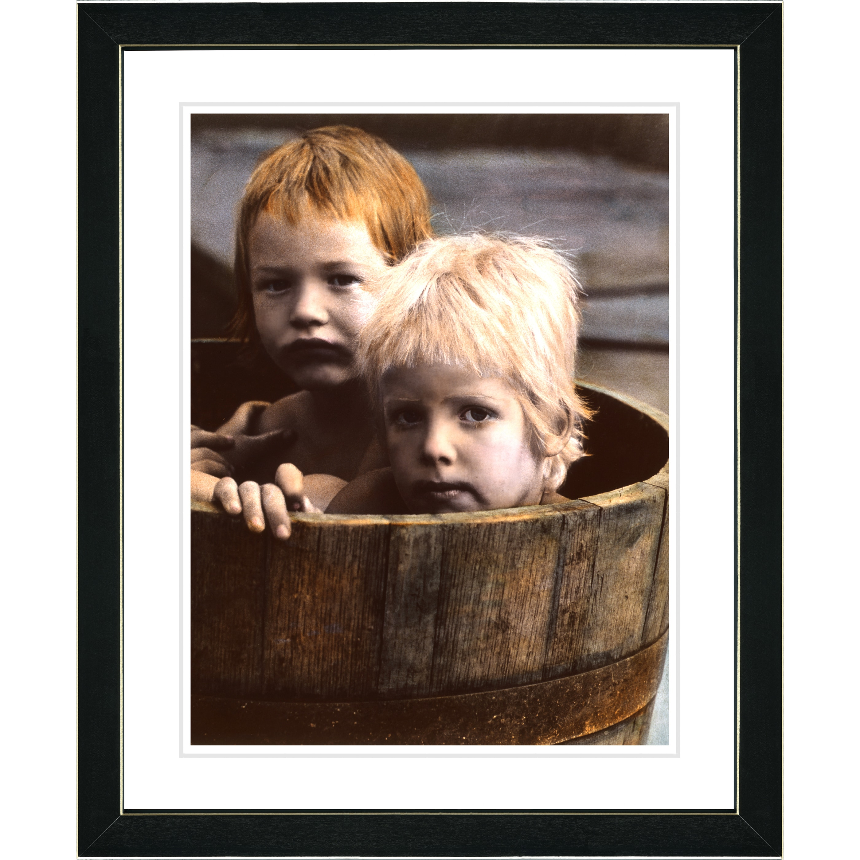 Overstock.com Studio Works Modern 'Brothers in a Tub' Framed Art Print at Sears.com