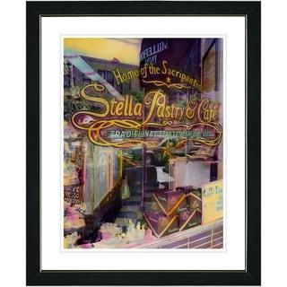Studio Works Modern 'Stella Pastry & Cafe' Framed Art Print