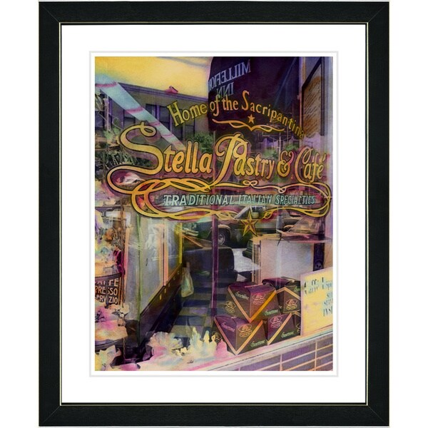 Studio Works Modern 'Stella Pastry & Cafe' Framed Art Print