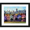 Studio Works Modern 'Victorian Houses' Framed Art Print