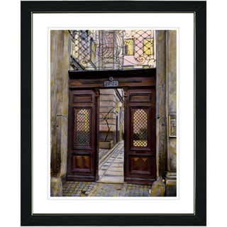 Studio Works Modern 'Double Red Door' Framed Art Print