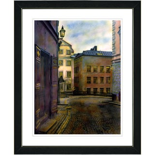 Studio Works Modern 'Old Town Street' Framed Art Print