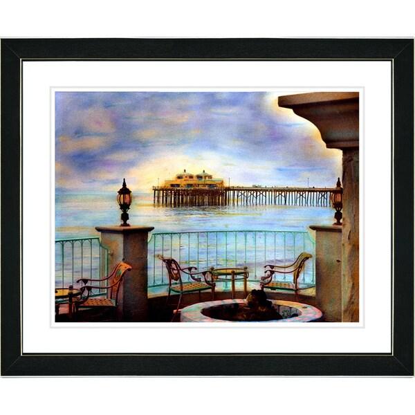 Studio Works Modern 'Malibu Pier' Framed Art Print