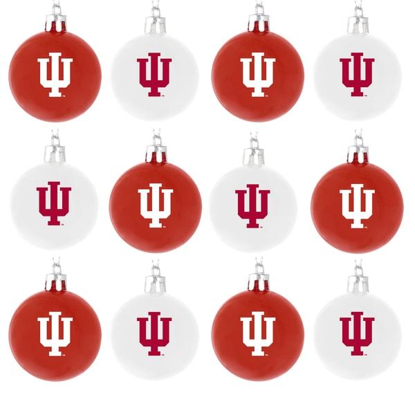 NCAA 12-piece Plastic Ball Ornament Set